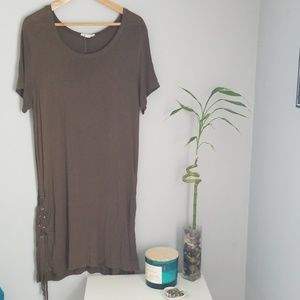 Olive green TShirt dress
